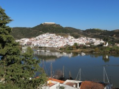 This is Spain the background......taken from the top of the castle wall.