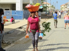 We saw many women walking with large baskets of fruit, produce and other fares.