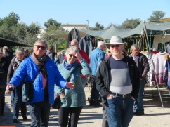 Marc, Pat and Gary checking out all the stalls and picking up a few things for home. Olives, spices, Gary even had the vendor punch a couple of new holes for him in his existing belt.