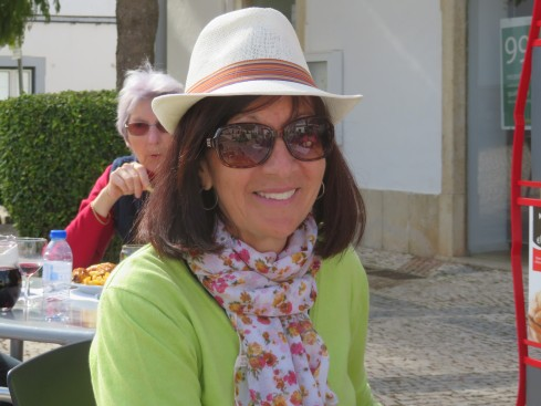 Diane claims she does not look good in hats but, we have discovered men's hats look marvelous on her.