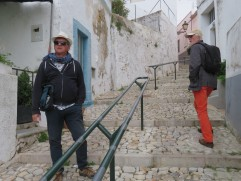 We walk this route home so often that we forget what a work out it is. Marc and Harald in his pants that I covet!