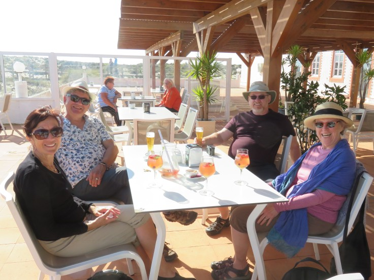 The four of us enjoyed Sangria and Beer on the patio near the beach before heading home. We all have to keep pinching ourselves that we are so fortunate to be able to enjoy, and share in, this experience.