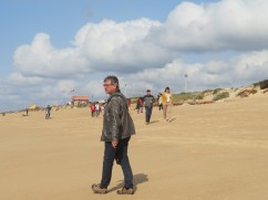 Lots of people on the beach today, most walking in small groups and animatedly chatting and laughing. Very lively place.