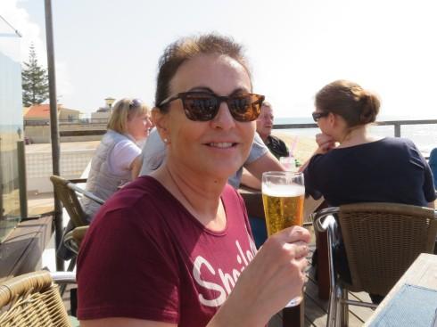 Lise enjoying her last full day in the Algarve.