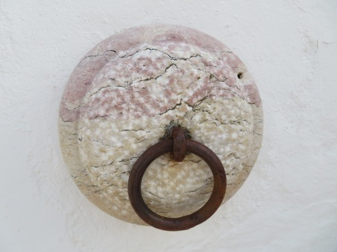 Marble, quarried from nearby, in the north of Alentejo, is pinkish and in the case of this piece, quite beautiful.
