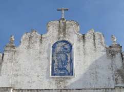 Tile work on the top of the church, which as usual, adorns the main square of the town.