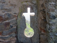 I wonder what it took to chip away that large chunk of rock within the cross.