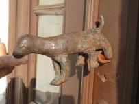 One of thee dog door knockers.