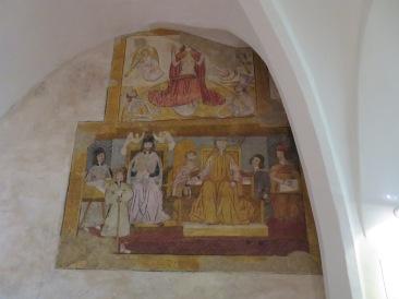 A fresco in the local museum.