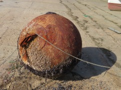 This well worn and sea beaten buoy.