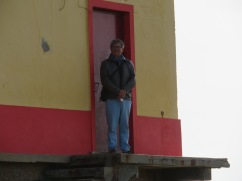 My handsome fella climbed to the top of the old salt house on the Fuzeta beach.