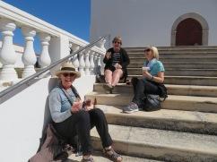 Three happy women.