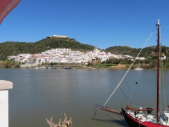 Spain, right across the river from Alcoutim. We sat and enjoyed a cold beverage on a patio overlooking this and simply enjoyed each others company, the sunshine and at least once spoke about how blessed our lives are.