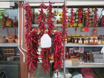 And finally, a lovely display of piri-piri peppers.