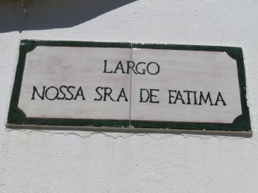 The sign on the square.