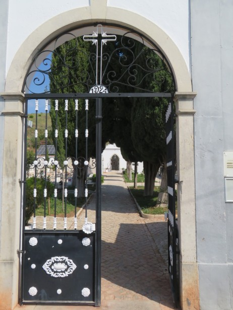 A view in through the cemetery gates. I did go in and wander around but I don't usually take photos in there out of respect.