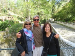 The three amigas headed off for a lovely walk along part of the trail to experience the tranquility of the forest and the babbling stream.