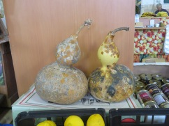 Gourds of every shape and size were available.