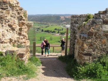 Here are my companions at the castle gates enjoying the view over Aljezur.