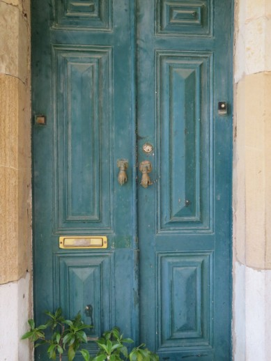This old door was painted, or treated, with the most lovely hue of blue. The photo doesn't quite do it justice.