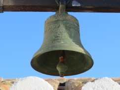 The old bell on the top of the chapel