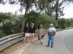 Here is our happy crew setting off. Joan stayed near the car with a good book to wait for us.