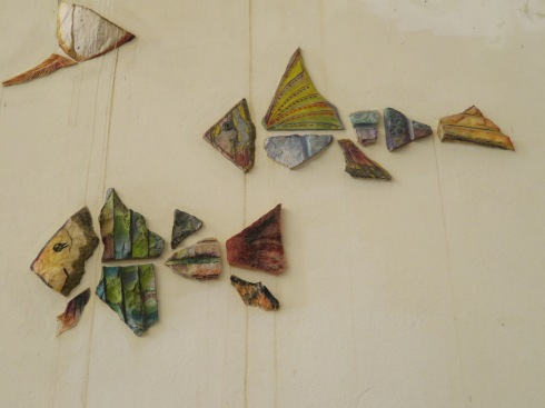 This lovely fish motif in the fishermen's market.