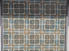 This tiled house was quite striking. The closer to the wall you got, the more textured and 3 dimensional it looked.