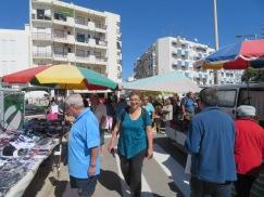 WE discovered a gypsy market in full swing in Fuzeta.