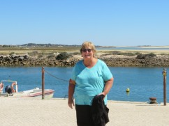 """Patricia was delighted to be back in Fuzeta and told me she felt as if she was """"coming home"""". This was the first place she visited here several years ago on her first Portuguese trip."""