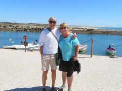 Myself and Patricia near the Fuzeta harbour.