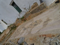 Another angle of the mosaics at the Roman Ruins.