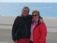 Marc and Patricia......I wonder if they co-ordinated the red outfits??