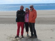 Don't we all look cute? It was sunny and about 17 but the wind was very strong and nippy.