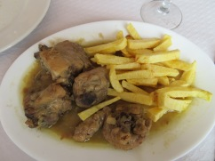 Marc and Patricia had a garlic chicken with truly delicious homemade fries.