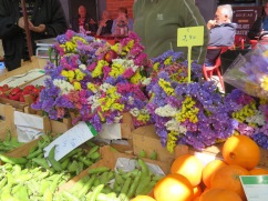 Many flowers on sale today, gorgeous colours and choices.