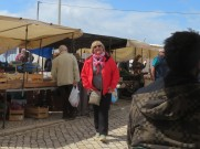 Miss Patricia enjoying her solo wanderings. There was a small gypsy market next door and we lost her there for a while!