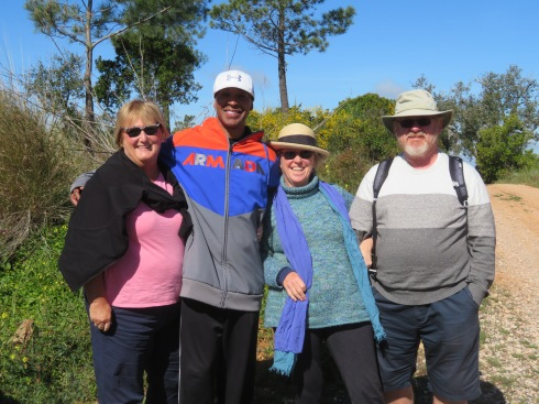 Pat M, Henry, Pat K and Gary......all geared up for a delightful hike in the mountains and ravine.