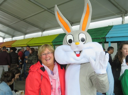 It needs to be said that Pat accosted the Easter Bunny and not the other way around.