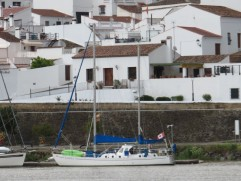 I loved seeing the Canadian fly flying proudly on this boat anchored on the Spanish side of the Guadiana.