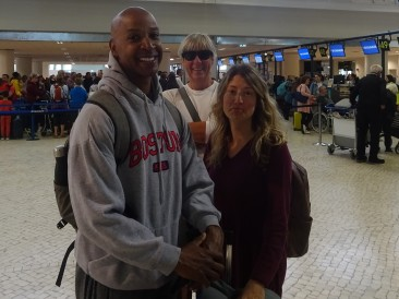 Of course I had to photo bomb!! Bon voyage Chloe and Henry.