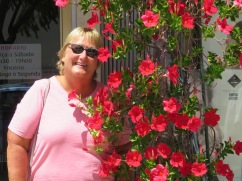 This lovely plant was on the patio of the restaurant and Patricia was certain she had had her photo taken next to it two years ago and wanted a similar photo to make a comparison.