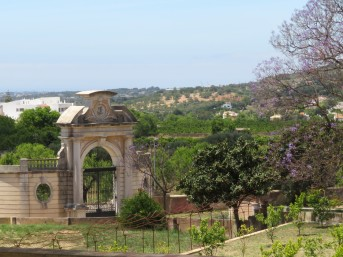 The original gates to the Pousada, which are now usually closed.