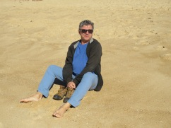 A beach pedicure!!! The sand felt, and resembled warm brown sugar!