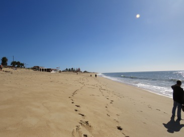 A shot of the beach in both directions during our lovely walk.