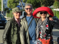 Robert, Marc and Sanders in her new chapeau!