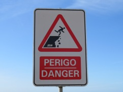 Do not plie or tendu on the edge of the cliff!!! Sorry.....my sense of humour.