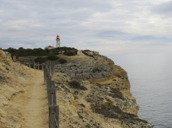 The farol (lighthouse) off in the distance.