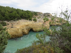 Caves and grottos lined the shore. We saw many boats full of eager tourists passing in and out.