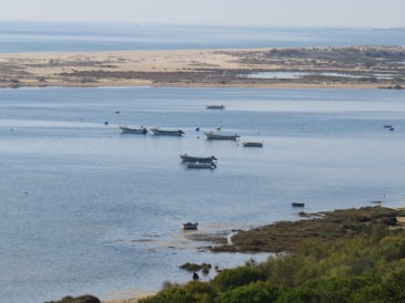 Sunday, therefore the fishing boats are quiet AND high tide. Bobbing along on the water.